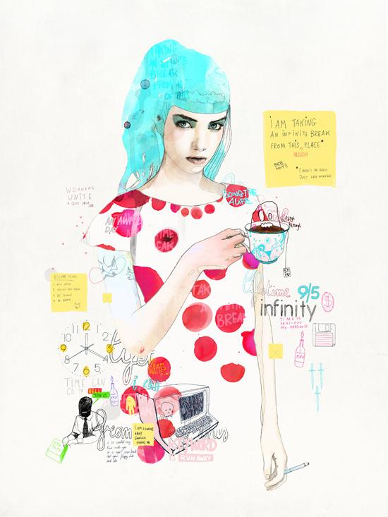 Raphael Vicenzi, 2013 #woman #girl #illustration #belgium #drawing