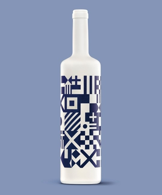 Diseño de Botella de Vino Albariño #white #spain #bottle #packaging #design #wine #albariã±o #sea #oloramar #flags