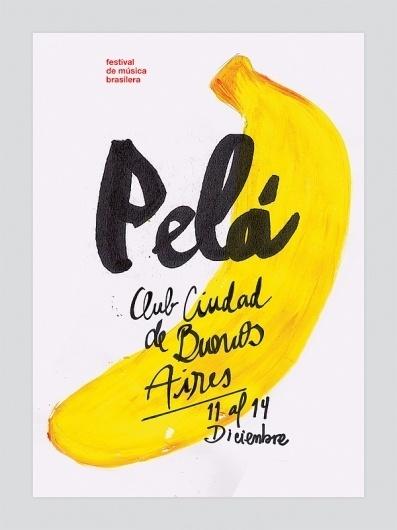 Pelá - Brazilian Festival on the Behance Network #pel #balana #afiche #brasil #poster #brazil