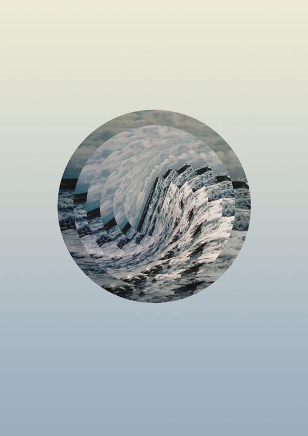 Astral Sea #ocean #circle #sky #sarita #sydney #design #graphic #round #wave #earth #beautiful #saritawalsh #sea #minimal #gradient #blue #walsh #pastel