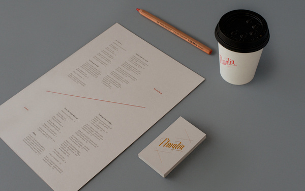 Café Amalia — Tom Clayton / Swear Words #business #branding #caf #card #identity #stationery #foil #typography