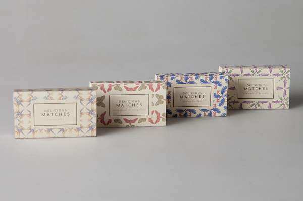 Delicious Matches by Nicolo Arena #match #pattern #packaging #box #matches #vintage