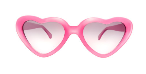 Pink heart glasses #white #girl #pink #on #emotional