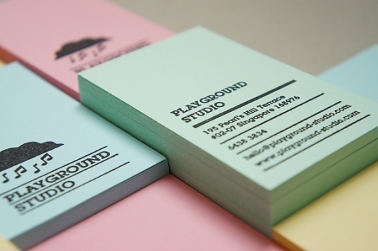 Playground Studio Business Card and Letterhead - FPO: For Print Only #stamp #branding