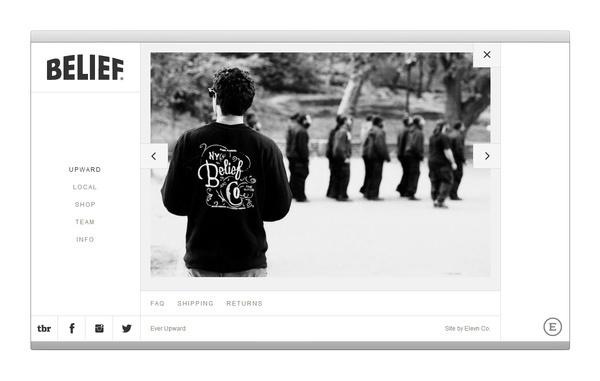 Elevn Co. / Belief Website and Identity #tumblr #design #minimalism #clean #website #grid #simple #mobile #web