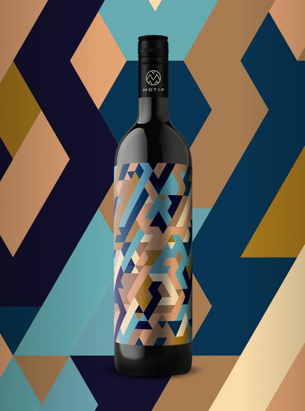 10_17_13_MotifWine_9.jpg #bottle #packaging #design #color #wine #geometric