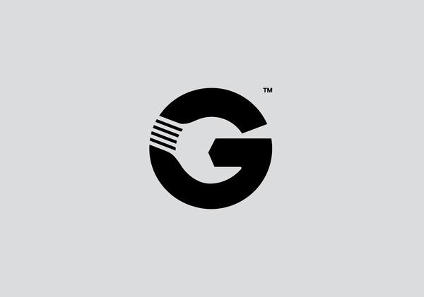Gott's Van & Car Service Centre #negative #design #graphic #space #marque #logo