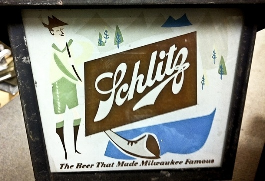 Badge Hunting | Allan Peters #beer #script #illustration #horn #schlitz #mountains
