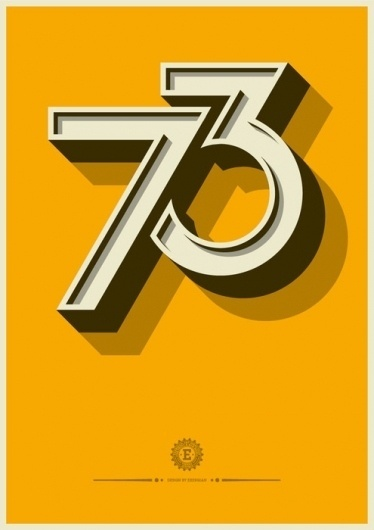 Brief / Relief #yellow #design #illustration #poster #numbers #type #typography