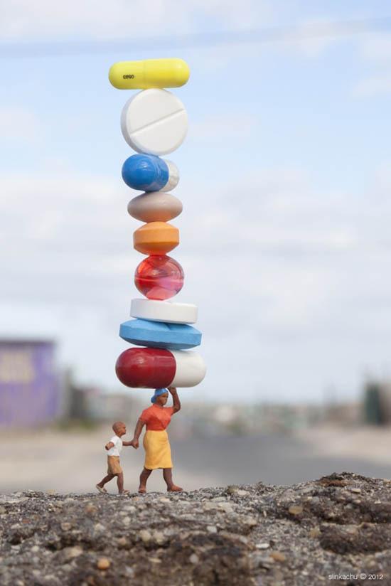 www.streetartutopia 1 #tiny #pills #medicine #meds #photography #shift #miniature