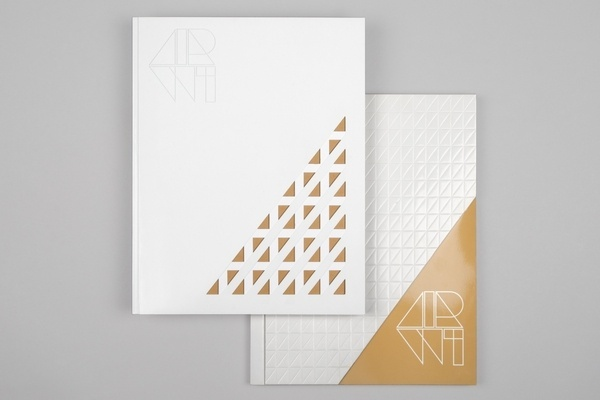 AirW1. Deconstructing Deco – dn&co. #die #cut #emboss #cover #layout