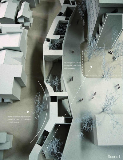 a f a s i a: Yuki Ito #models #void #solid #architecture #urbanism
