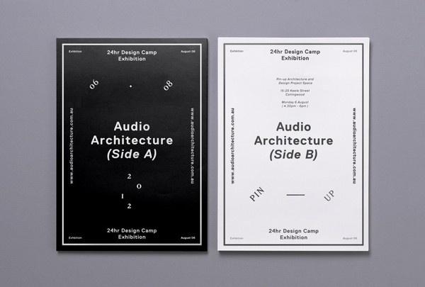 Audio Architecture | COÖP #& #black #white #poster