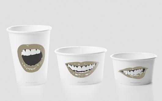 Anagrama | Al Fresco #sizes #icecream #mouth #branding
