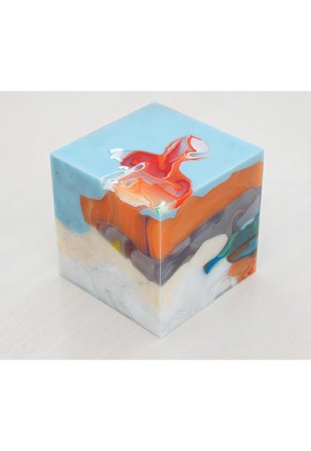 Matthias van Arkel #arkel #van #cube #art #blue #matthias
