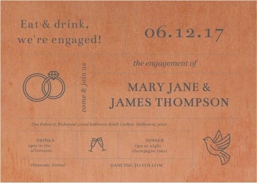 Type On Line - Engagement Invitations #paperlust #engagementinvitation #engagementcard #engagementinspiration #design #paper #printonwood