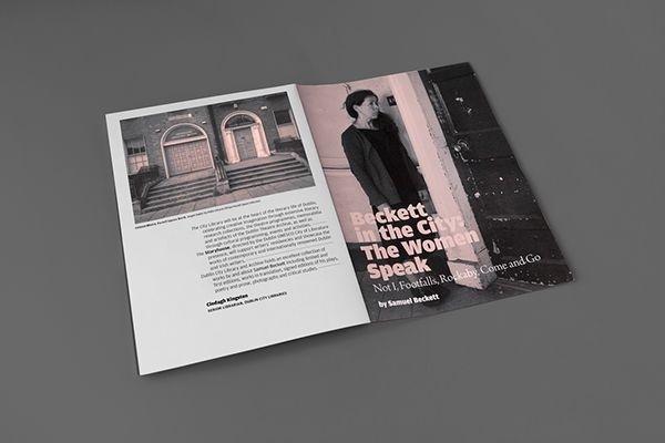 #design #graphic #typographic #layout #urbend #theatre #programme #beckett