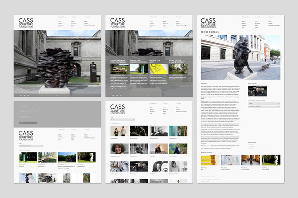 Founded : Cass Sculpture Foundation #grid #white #web #clean