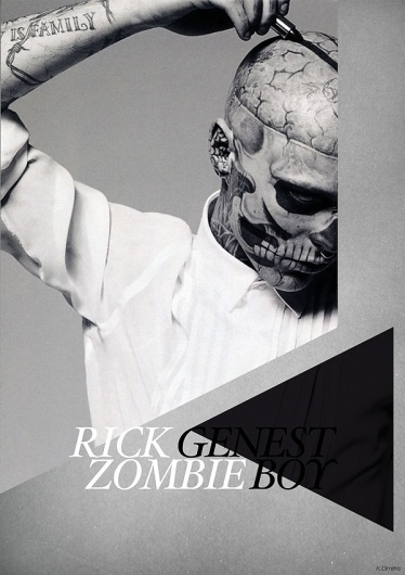 Rick Genest on the Behance Network #print #genest #poster #rick