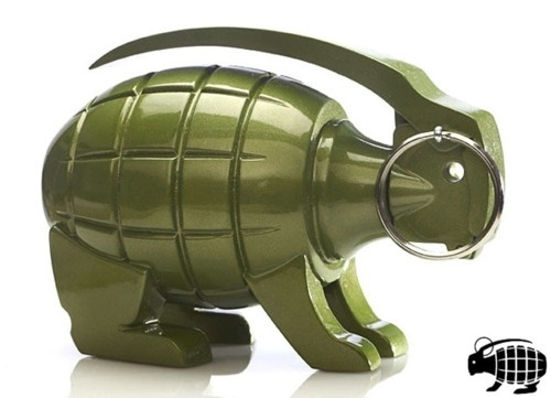 Designersgotoheaven.com - GRENADE BUNNY BY LUCKY... - Designers Go To Heaven #mark #logo #rabbit #grenade