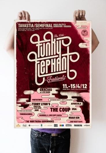 The 18th Funky Elephant Festival Identity | Aleksi Ahjopalo #funky #festival #funk #elephant #poster #music