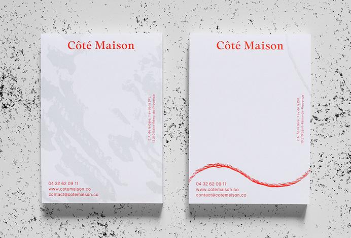 Côté Maison by Studio 24/24 #business card #branding #stationery