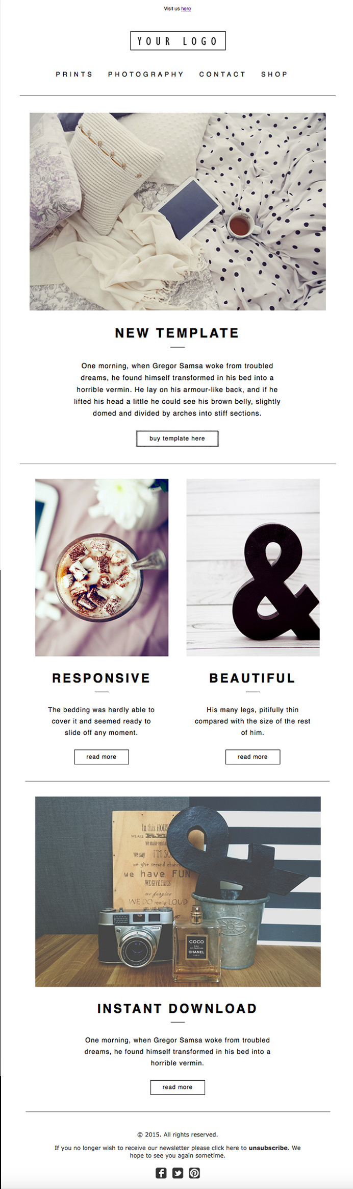 best design website modern newsletter template images on