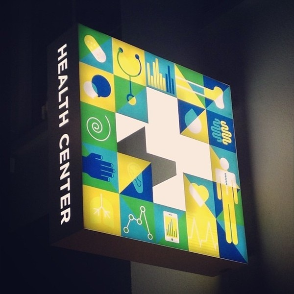 Carl DeTorres #center #sign #fluorescent #health #facebook #illustration #signage #slighted