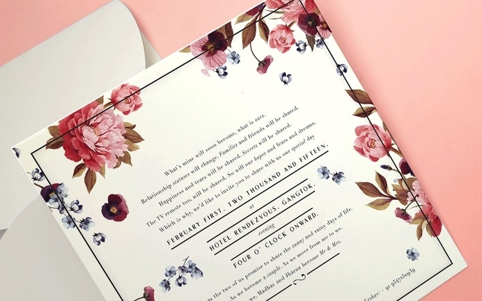 #Wedding #invite #floral