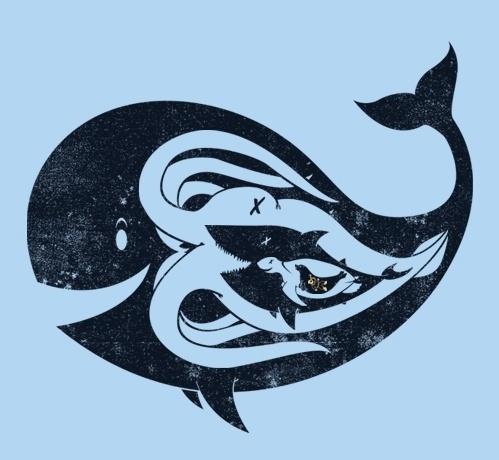 tumblr_lqccq2fuEh1qz6f9yo1_500.jpg 499×460 pixels #whale #turtle #illustration #otcopus