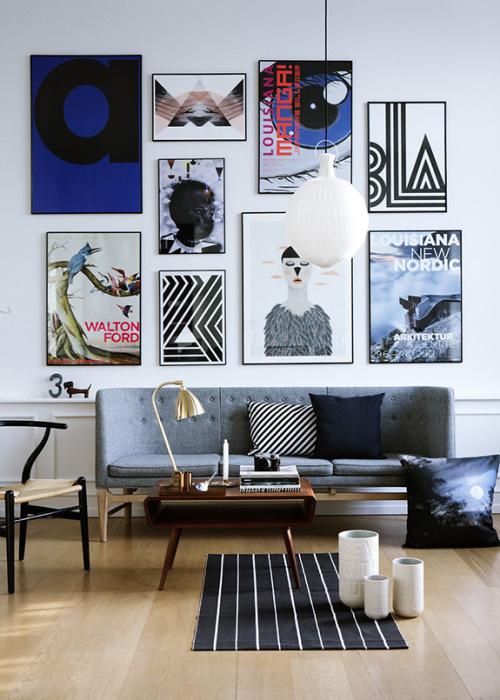 stylish interior of sitting room