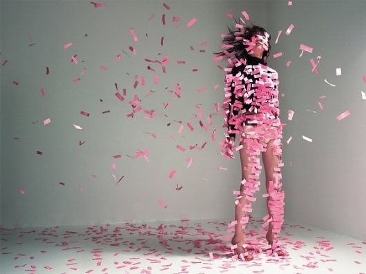 NAM: A Fantasy in Life | Colossal #pink #photography #nam #confetti