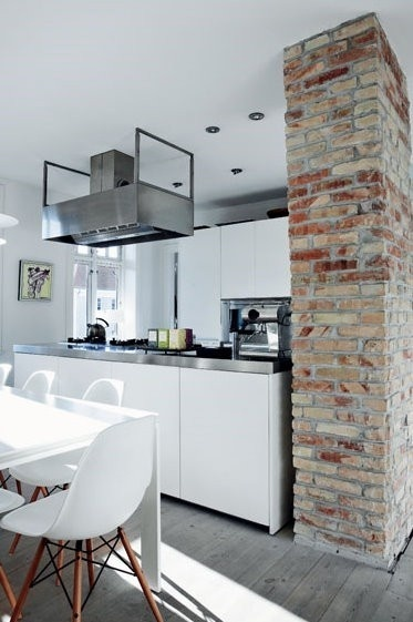 The Design Chaser: Interior Brick | Raw #interior #brick #design #decor #wall #deco #decoration