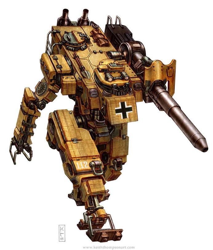 Robots: Panzerfluch Ausf G #fantasy #ww2 #robot #robotics #scifi #science #german
