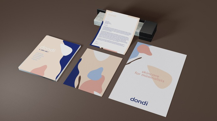 Dondi - Mindsparkle Mag Dondi's playful and relaxing abstract design created by Merril Cledera was inspired by natural settings; the cool color palette, derived from the beach and ocean, is representative of the organic ingredients. #logo #packaging #identity #branding #design #color #photography #graphic #design #gallery #blog #project #mindsparkle #mag #beautiful #portfolio #designer
