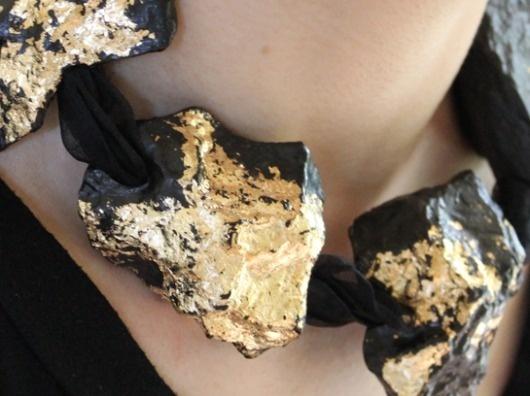 Leah Jackson — Gather & Fold #ceramics #casting #black #jackson #rocks #leah #gold #jewelery