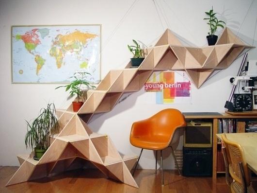 T.shelf : J1studio ($500-5000) - Svpply #negative #conceptual #space #furniture #triangles