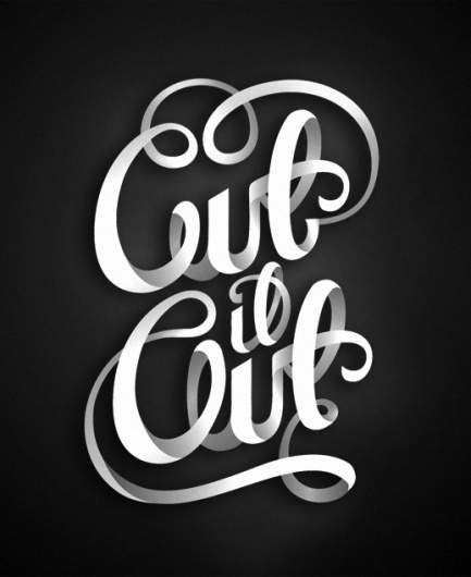 All sizes | Cut it Out | Flickr - Photo Sharing! #lettering #illustrative #design #letter #fun #bw #typography