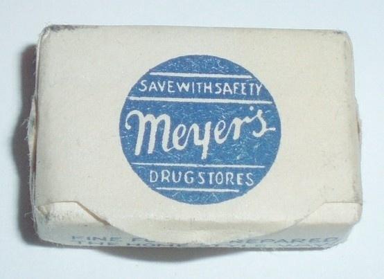 Typography / MEYERS DRUG STORES by ussiwojima, via Flickr #font #design #soap #vintage #and