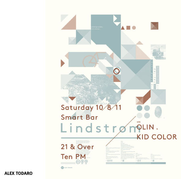 Affiche Lindström with Olin & Kid Color par Alex Todaro #design #screenprint #graphic #poster