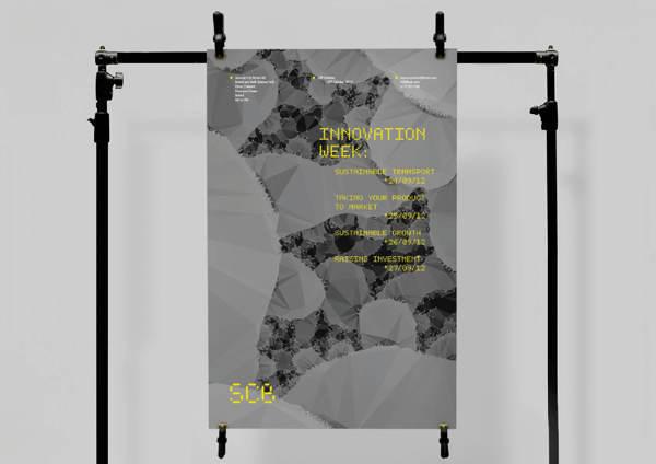 Science City Bristol on the Behance Network #design #graphic #grid #minimal #poster #matrix #dot