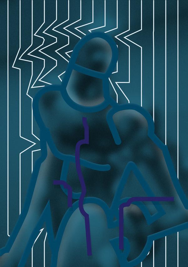 Untitled #abstract #edvard #scott #statue #illustration #man #blue