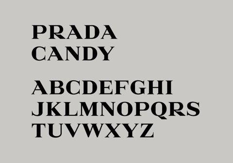 The Daily Mu'tan't, Prada Candy font by Alias #serif #typography