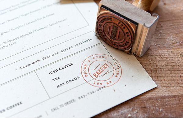 Brown's Court Bakery Branding   Nudge #stamp #bakery #branding #design #typography