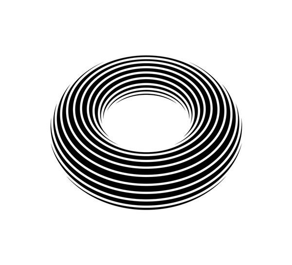 Negativ Donut Art Print #illustration #vector #geometric #donut
