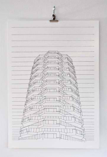 Peter Crawley | Stitched Illustrations #stitching #illustration