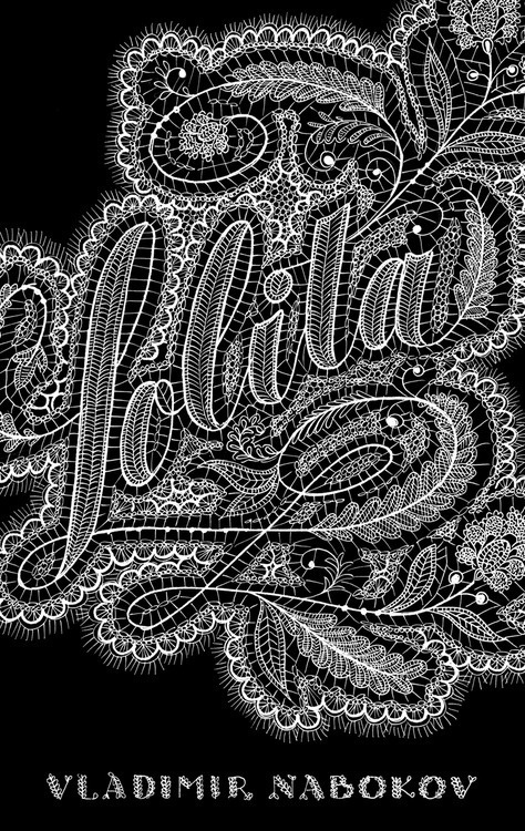 The Lolita Cover Project by @JessicaHische #white #book #black #covers #and #lace #typography
