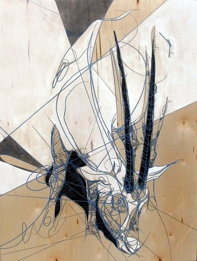 Jason Thielke #thielke #oryx #jason #arabian #denver #laser #colorado #wood #art #etch