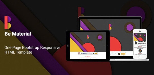 Be Material One Page Bootstrap Responsive HTML Template