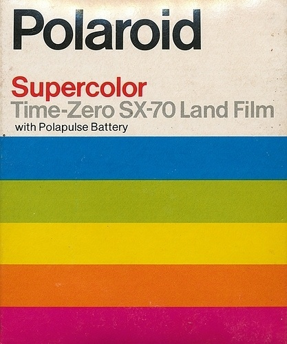 Polaroid Supercolor Time-Zero SX-70 Land Film #brand #polaroid #film